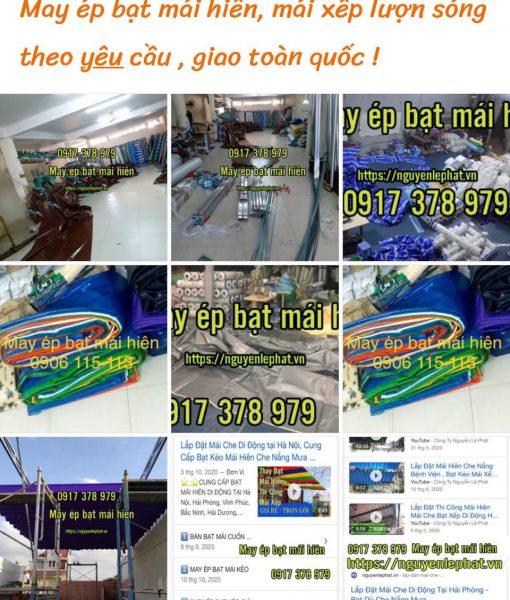 Nhà máy may ép bạt xếp-bạt che nắng mưa giá rẻ hàng đầu Việt Nam
