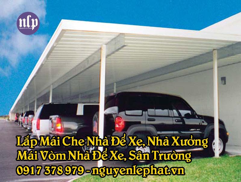 Mái che nhà để xe tại Tân Bình giá rẻ