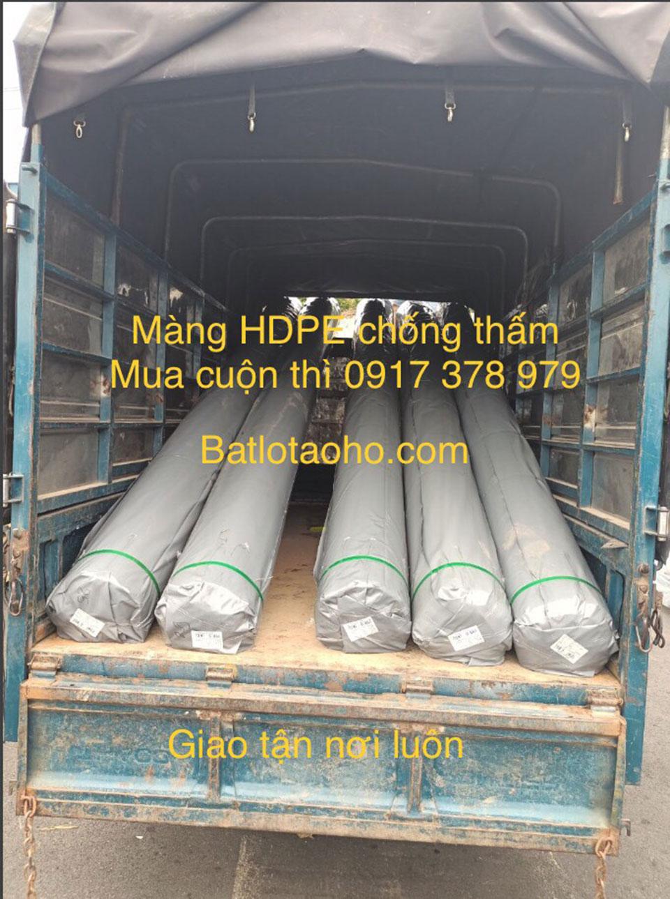 Cấp bạt lót ao hồ chứa nước HDPE tại Đồng Nai
